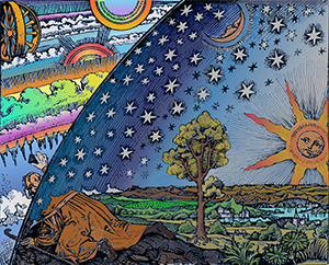 Flammarion_Woodcut_1888_Color_2_300