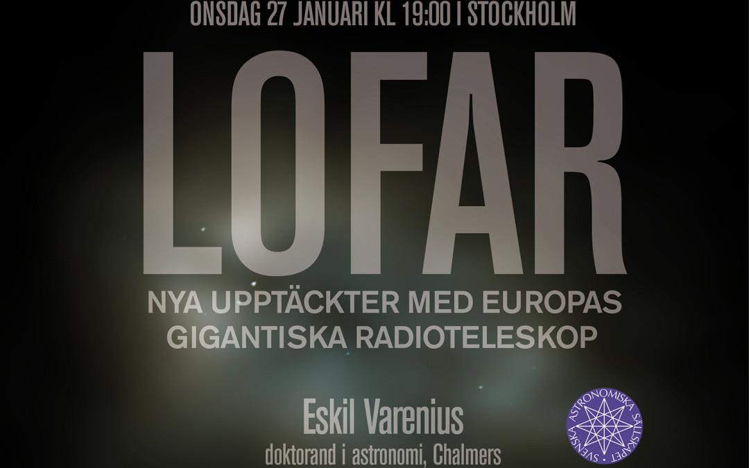 Upptäck LOFAR i Stockholm den 27 januari 2016