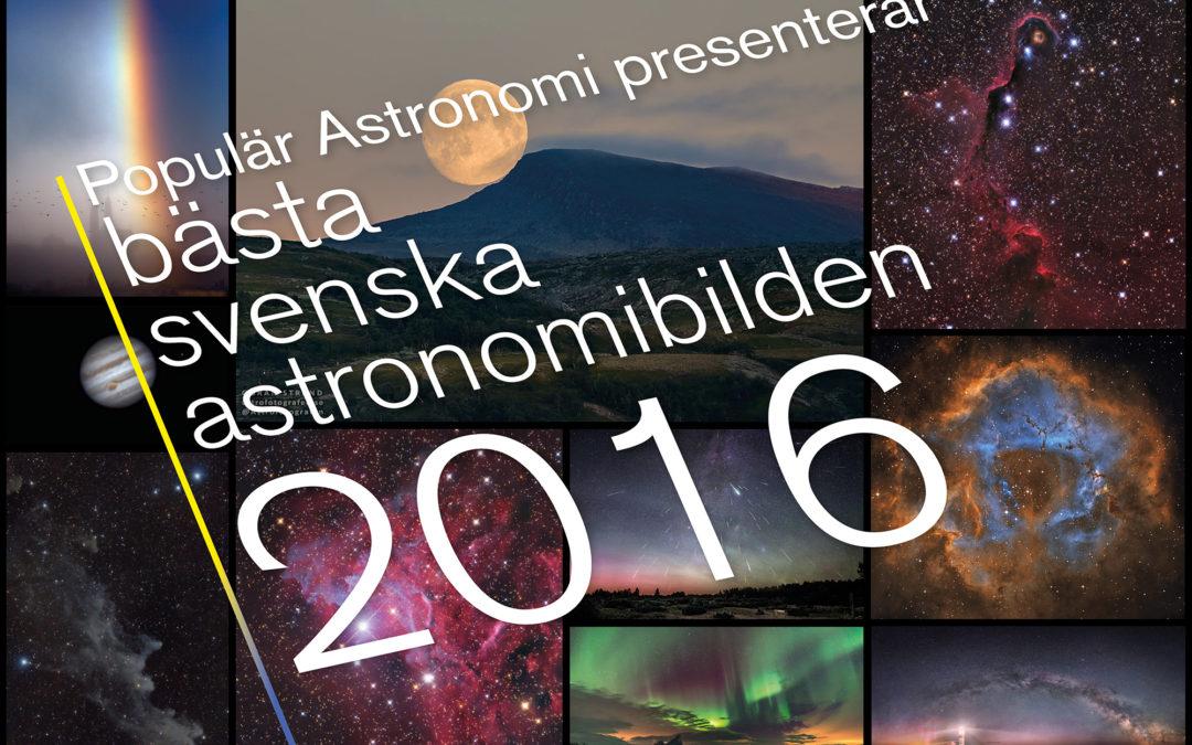 Pressmeddelande: Månuppgång över fjälltopp årets bästa svenska astronomibild 2016