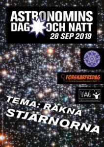 affisch Astronomins dag och natt 2019