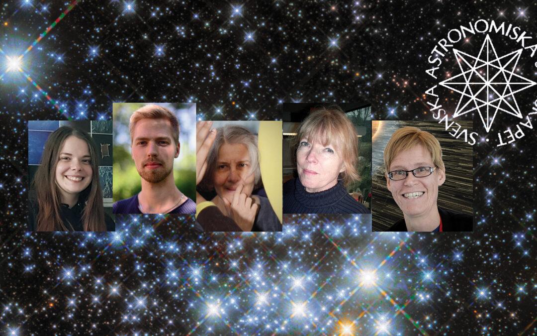 Bakgrund: ESA/Hubble & NASA; Foton: Astronomisk Ungdom; R. Cumming; IRF/Annelie Klint Nilsson; NASA