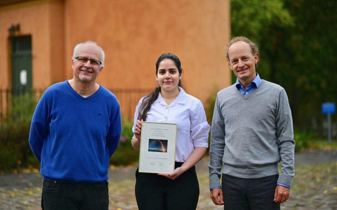 Hasti startade nationell rakettävling – nu får hon 2020 års ungdomsstipendium